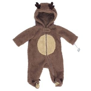 Carter's one-piece fuzzy reindeer outfit, NEW